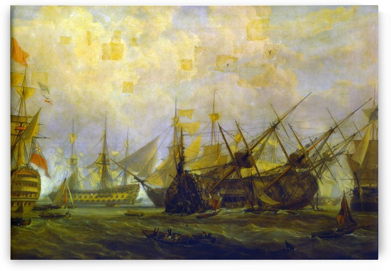 Ships on the sea by John Cleveley the Elder