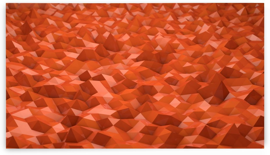Abstract Low Poly Low Poly Orange Background by STOCK PHOTOGRAPHY