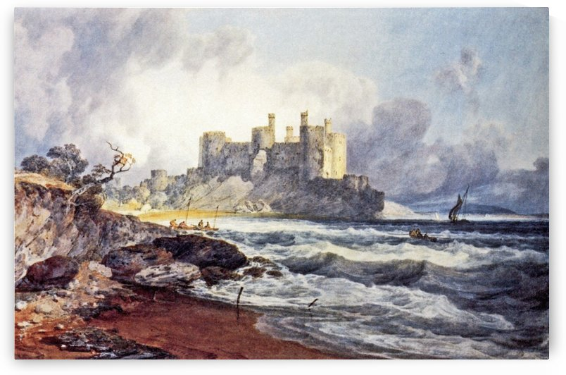 Conway Castle, North Wales by Ebenezer Colls