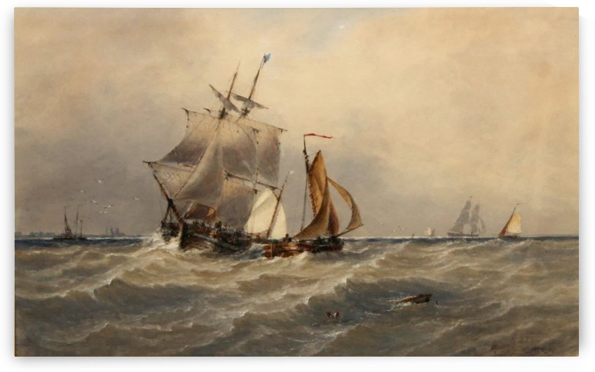 A Rough Sea by Ebenezer Colls