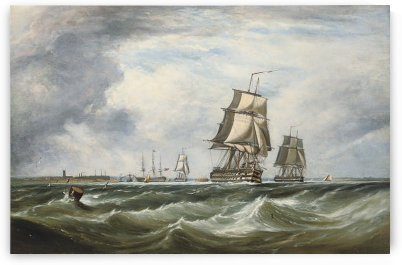 A Royal Naval Squadron running out of Portsmouth by Ebenezer Colls