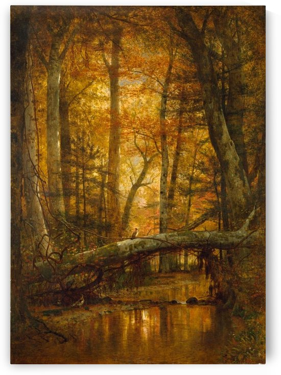 Detail from a forest by Thomas Worthington Whittredge