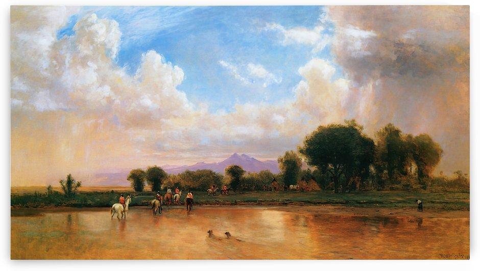 On the Plains Cache la Poudre River by Thomas Worthington Whittredge
