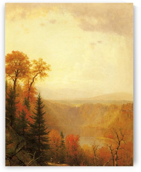 A lake in the forest by Thomas Worthington Whittredge
