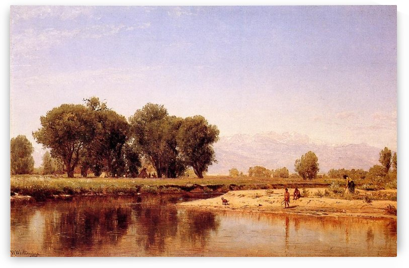 Indian Emcampment on the Platte River by Thomas Worthington Whittredge