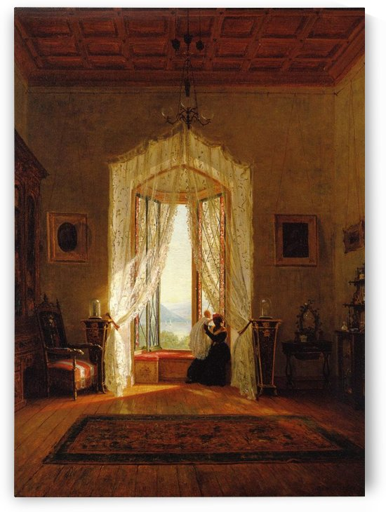 A Window, House on the Hudson River by Thomas Worthington Whittredge