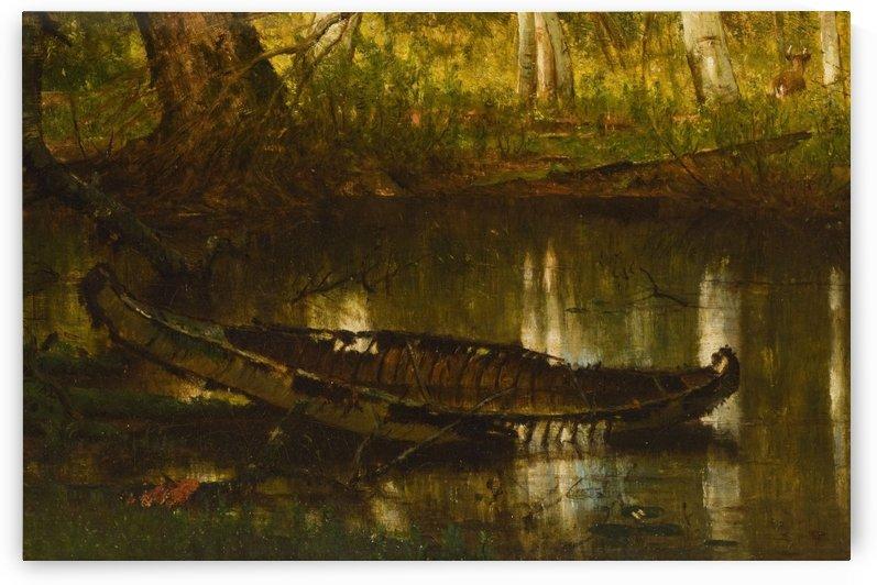 An abandoned boat by Thomas Worthington Whittredge