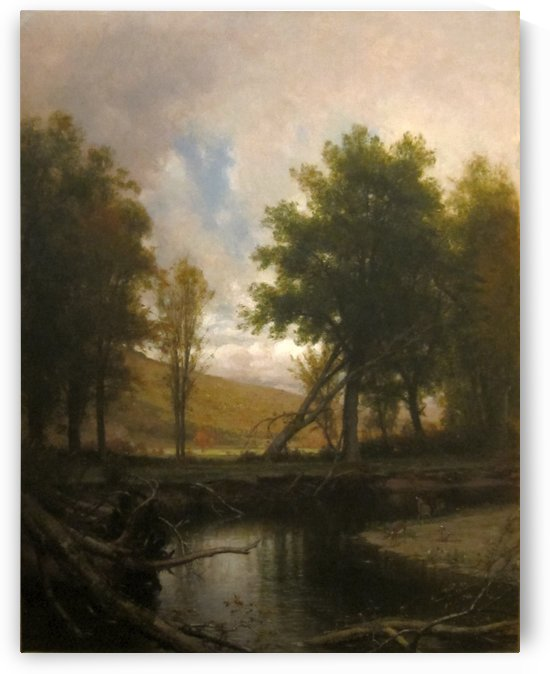 Landscape with Stream and Deer by Thomas Worthington Whittredge