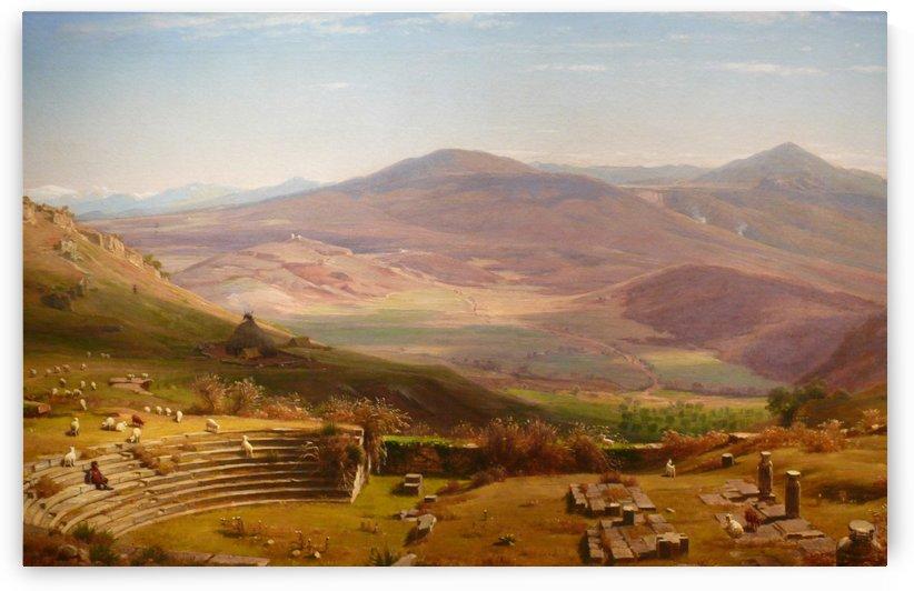 Tusculum Amphitheatre by Thomas Worthington Whittredge