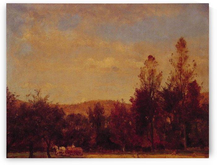 Gathering the Buckwheat by Thomas Worthington Whittredge
