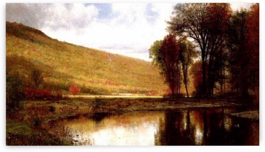 Landscape with a lake by Thomas Worthington Whittredge