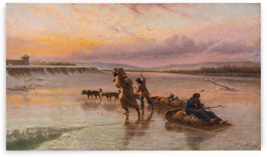 Crossing the river by William de la Montagne Cary