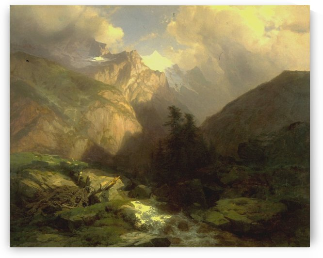The Jungfrau, Switzerland by Alexandre Calame