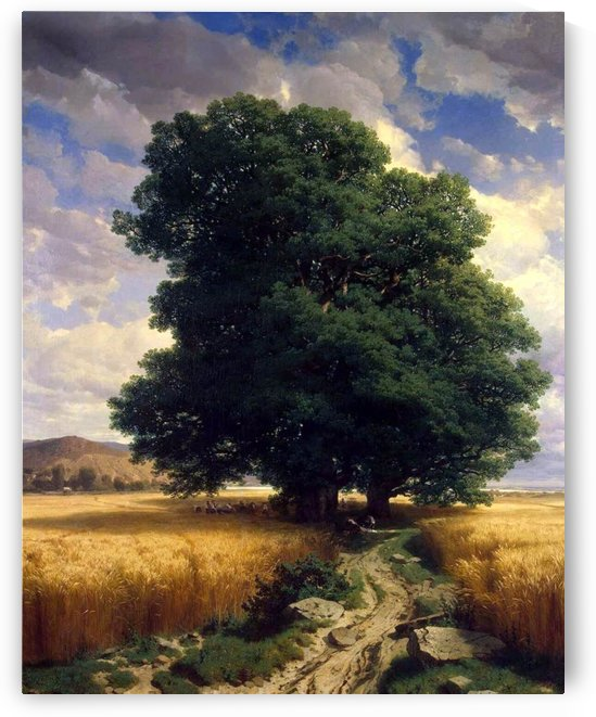 Landscape with Oaks by Alexandre Calame