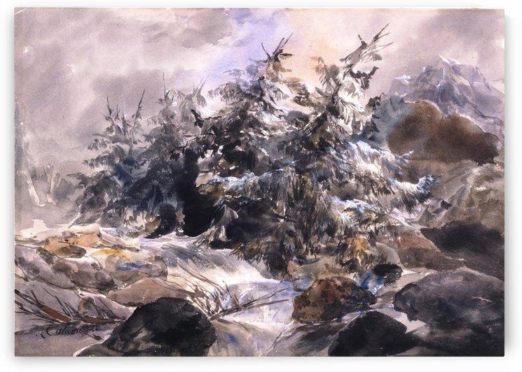 Lorage a la Handeck by Alexandre Calame