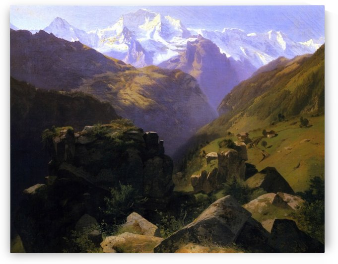 A View of the Jungfrau Massif by Alexandre Calame