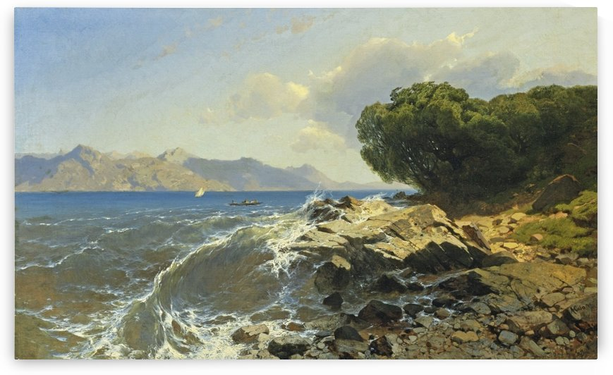 Lac suisse marin by Alexandre Calame