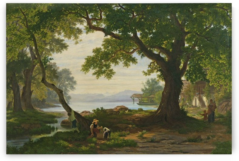 A Swiss family by Alexandre Calame