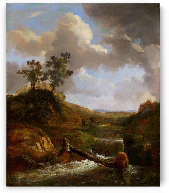 Hilly Landscape by Alexandre Calame