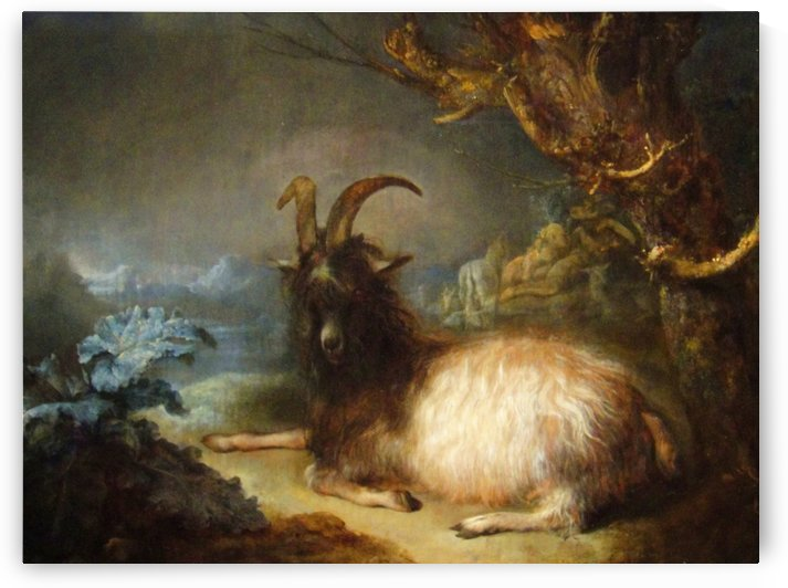 Landscape with a goat by Alexandre Calame