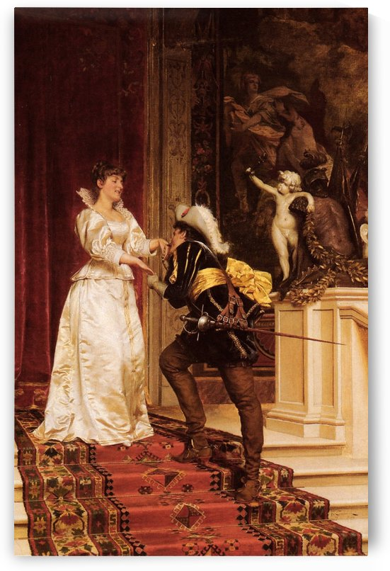 The handsome nobleman and his lady by Frederic Soulacroix