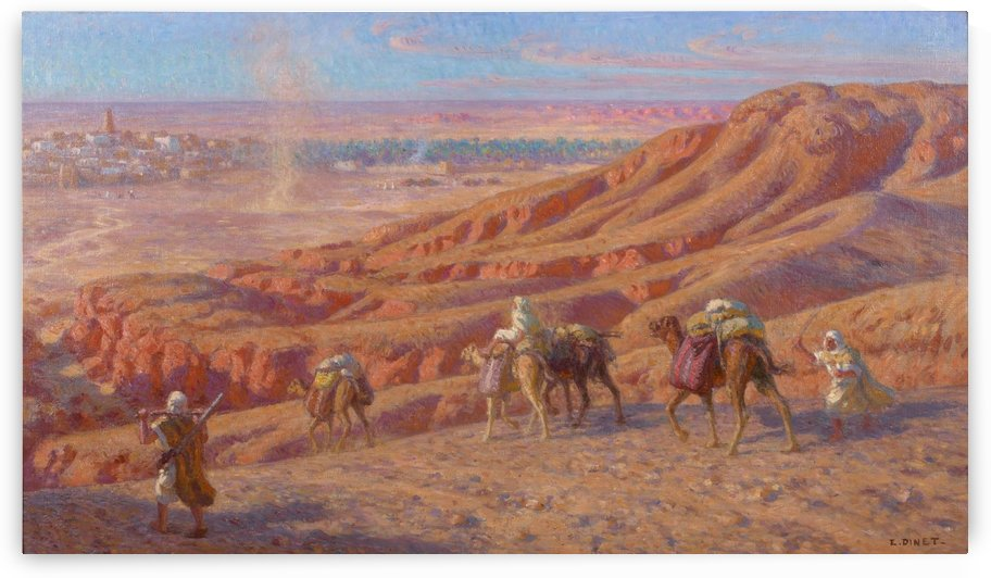 Caravane in the dessert by Etienne Dinet