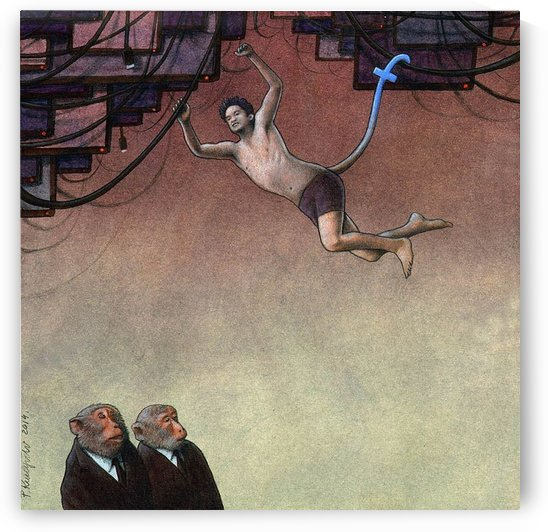 Evolution Facebook by Pawel Kuczynski