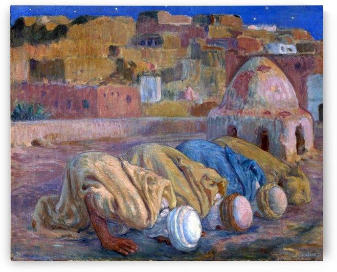 Priere sur une terrasse by Etienne Dinet