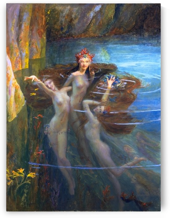 Les Nereides by Gaston Bussiere