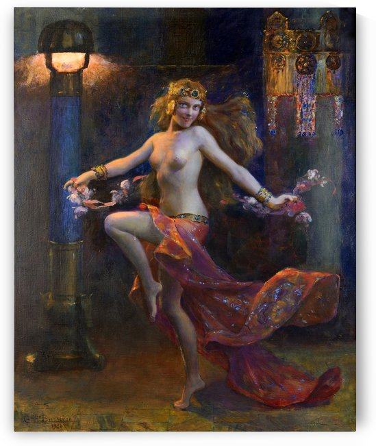 An exotic dancer by Gaston Bussiere