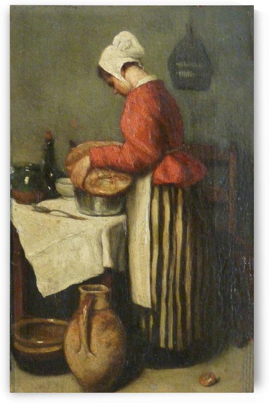 La tailleuse de soupe by Francois Bonvin