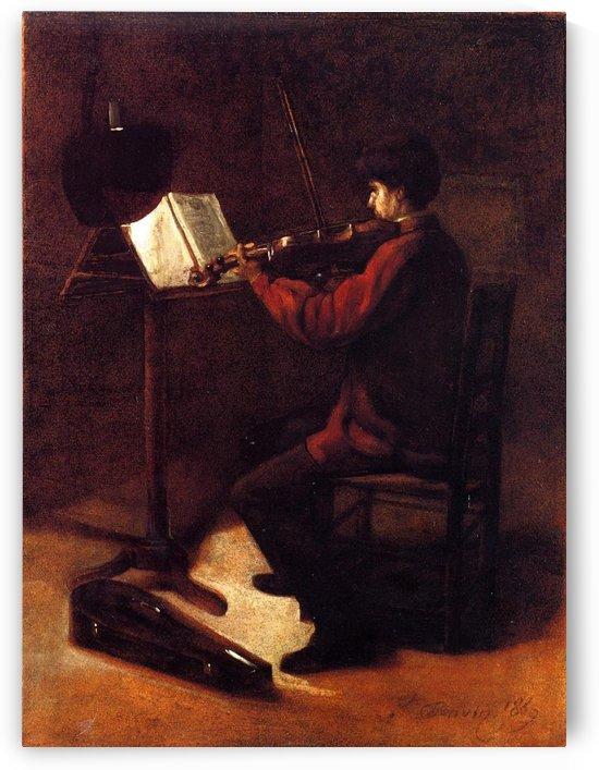 Violinist by Francois Bonvin