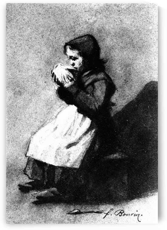 Girl Drinking from a Bowl by Francois Bonvin
