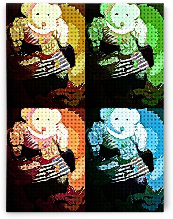 Teddy pop art by Crystal Michelle Caraway
