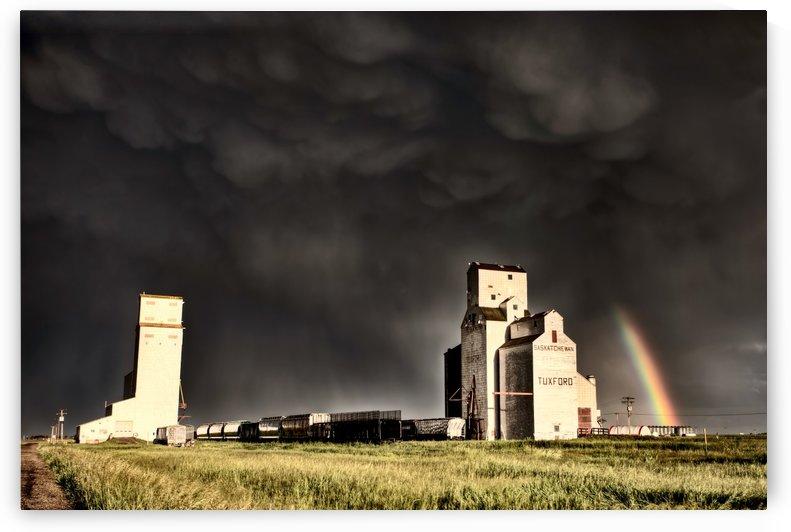 Storm and Rainbow Saskatchewan Canada by Mark Duffy