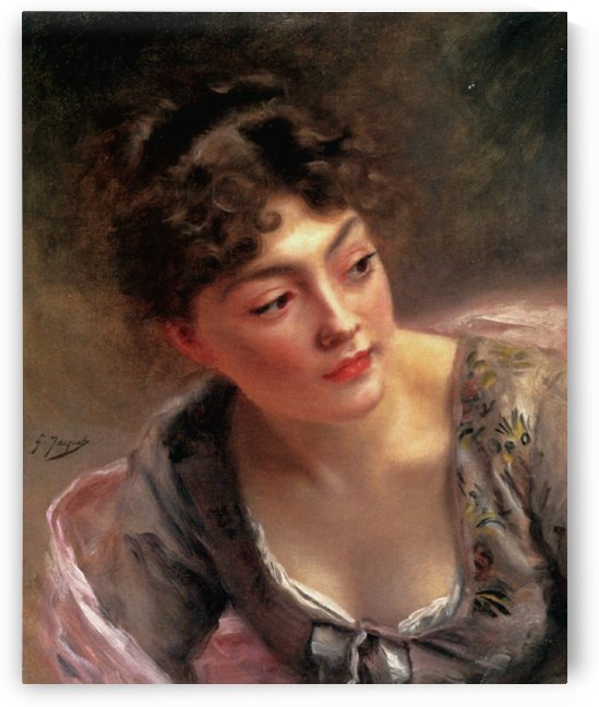 Mademoiselle by Gustave Jean Jacquet