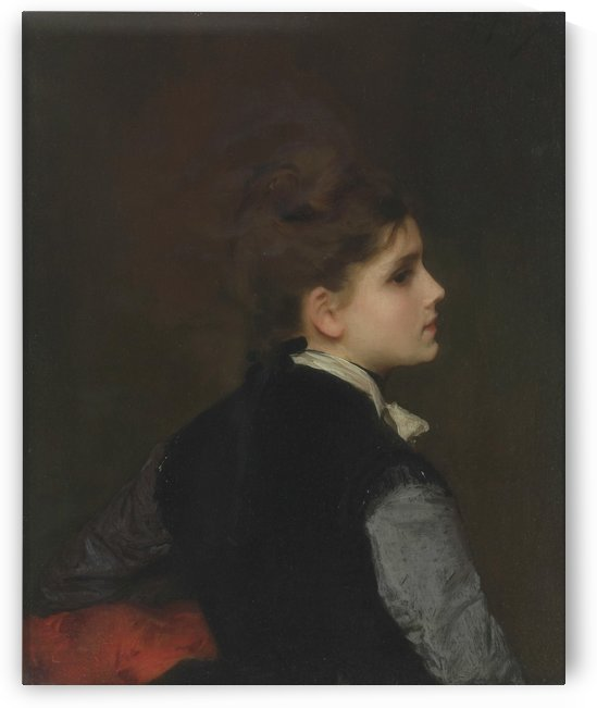 A young woman in profile by Gustave Jean Jacquet