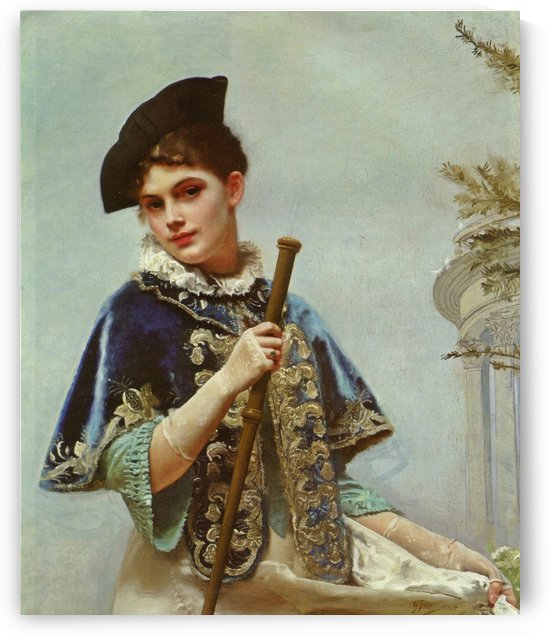 Noble lady by Gustave Jean Jacquet