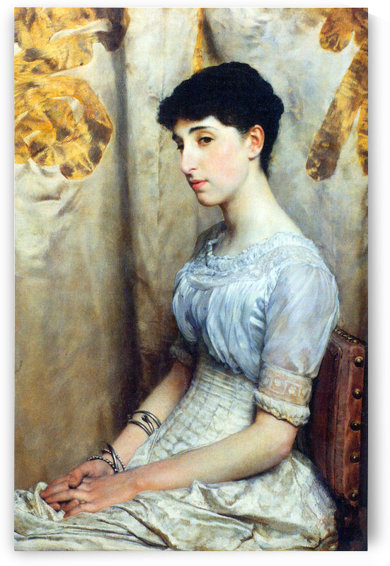 Portrait of Alice Lewis by Alma-Tadema by Alma-Tadema