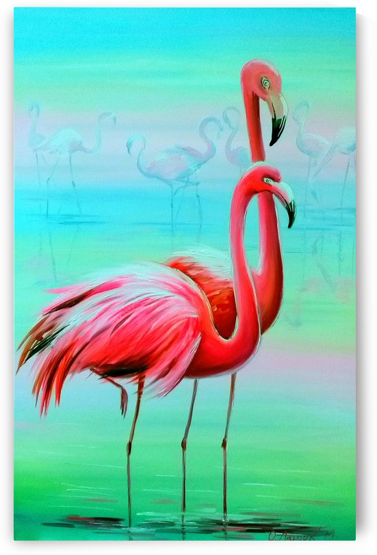 Фламинго на рассвете  by Olha Darchuk