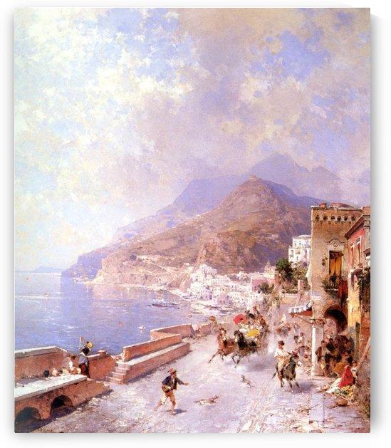 Coast of Amalfi by Franz Richard Unterberger