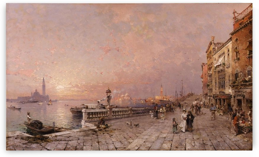 A day in Venice by Franz Richard Unterberger