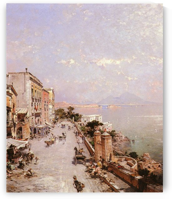 A view of Posilippo, Naples by Franz Richard Unterberger