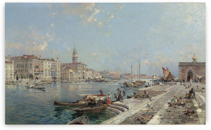 The Grand Canal seen from Santa Maria della Salute by Franz Richard Unterberger