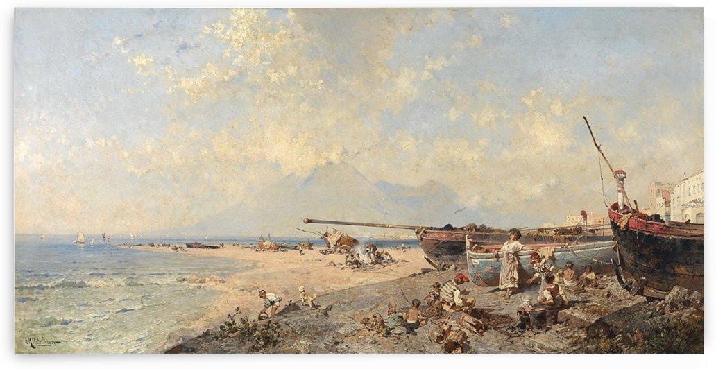 Castellmare Golfo di Napoli by Franz Richard Unterberger