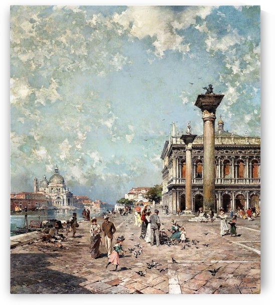 Landscape of the square by Franz Richard Unterberger