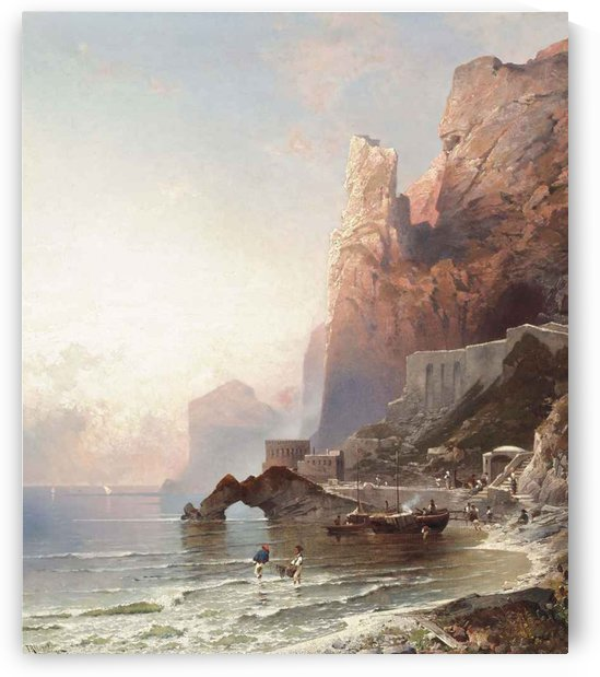 The rock of Amalfi by Franz Richard Unterberger