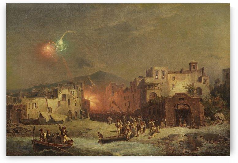 Santa Lucia Fest in Amalfi by Franz Richard Unterberger