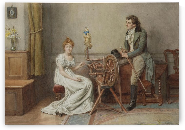 A romantic encounter by George Goodwin Kilburne