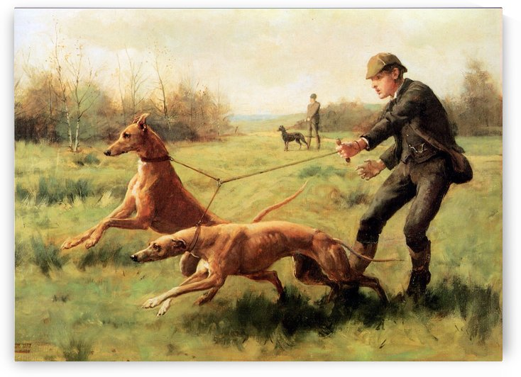 Training of greyhounds by George Goodwin Kilburne